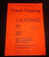 Laughing in my sleep Theatre Programme - Leighton Buzzard 1997