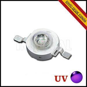 3x Led chip UV 3W violeta púrpura 395-400nm 700mA 3,4-3,6 V