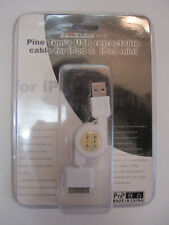 Lot Of 2 iPod Retractable Sync Charger Cables New