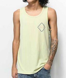 New 2019 Neff Mens Logo Lock Tank Sleeveless Shirt Medium Lemonade