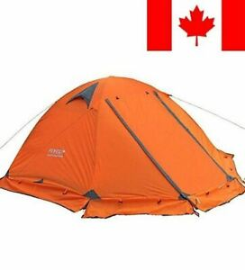 3-4 season 2-person Double Layer Backpacking Tent Aluminum Rod Windproof Wate...