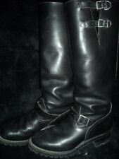 MENS 11.5 WESCO BLACK LEATHER MOTORCYCLE ENGINEER HARNESS BIG BOSS BUCKLE BOOTS