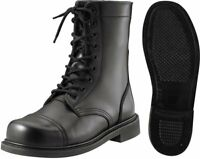 Black Military Leather Boots, Tactical Combat Uniform Boots