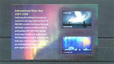 AUSTRALIS, INTERNATIONAL POLAR YEAR    U.S.A.,-SOUVENIR SHEET {2 stamps } 2007