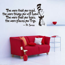 Dr.Seuss The More That You Read The More Things You Will Know Wall Fashion Decal