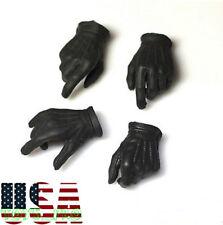 1/6 Scale Men Black Gloves Gun Hands For Robbers Hot Toys PHICEN Ganghood ❶USA❶