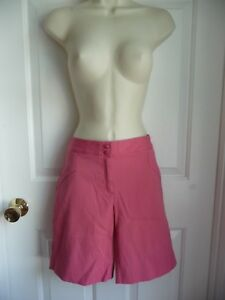 IZOD Ladies City Shorts 6 Cotton Blend Longer Length Coral Pink Casual Every Day