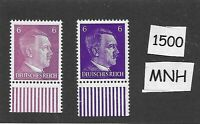 MNH stamp set / PF06 Color varieties / Hitler / WWII Germany / Third Reich era