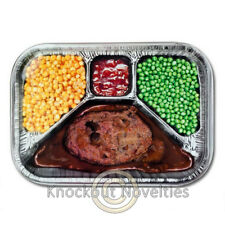 TV Dinner Metal Serving Tray Food Serve Meals Snacks Dinner Printed Host Hosting