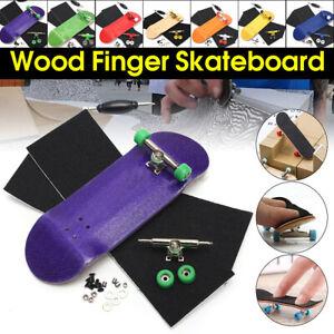 Mini Complete Wooden Fingerboard Finger Desk Skate Board Wood Toy Gift Ki