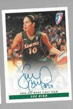 Sue Bird WNBA autograph card 2005 Seattle Storm