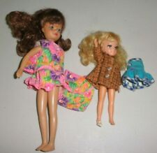 2 VINTAGE SMALL DOLLS- CLOTHES ARE MARKED IDEAL     (16)