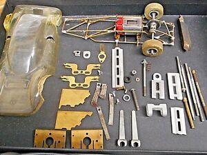 Vintage Lot of Slot Car Parts, Tires, Strombecker '60s Motor, Lexan Body, More