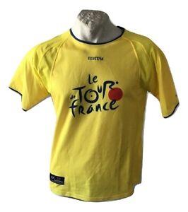Maglia da ciclismo Tour de France Festina T-Shirt Cycling Gialla Jersey Size XL