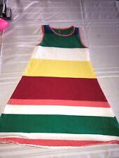 Lands End Girls Multi Colored Striped Sleeveless Dress Size 10-12