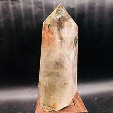Natural Green ghost Quartz Crystal stone pillars Energy healing stone 1660g