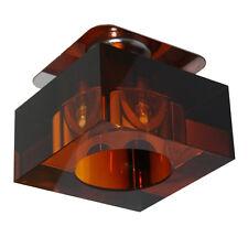 Retro Kristall Einbaustrahler Einbauleuchten Deckenleuchte Glas BERNSTEIN G4 12V