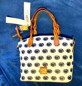 New Dooney & Bourke Celeste Satchel Crossbody Bag Penn State Nittany Lions White