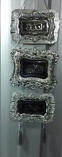 SILVER SQUARE WALL FANCY ISLAMIC HANGING ORNAMENT BROWN ALLAH & MUHAMMAD ISLAMIC