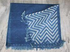 Vintage Turkish Indigo Blue Cotton Rugs,Antique Kilim Rug,4x6ft Area Rug,Carpet