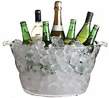 Large Oval Clear Acrylic Drinks Cooler Bottle Ice Bucket