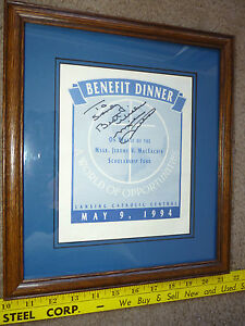 Framed MIKE DITKA Autograph Auto Signed Chicago Bears 1994 Lansing C.C.Benefit