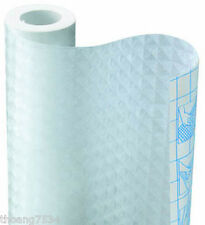 FROSTED Frost Grid Vinyl Contact Paper Shelf Drawer Liner Peel & Stick 4.5 feet