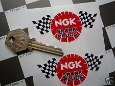 NGK Spark Plugs Check/Chequered Flag style stickers 3""