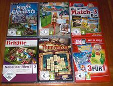 10 Spiele-Set - Match-3 / 3-Gewinnt / Gegen-die-Zeit / Logik - PC Sammlung Games