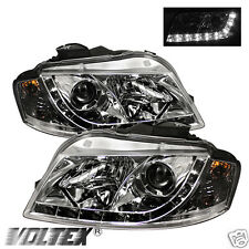2006-2008 AUDI A3 DRL LED LIGHT PROJECTOR BAR HEADLIGHTS CHROME LIGHTBAR