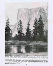Granite Cliff El Capitan -Yosemite Park-California-1894 Lithograph