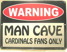 MLB  Baseball St. Louis Cardinals Man Cave Fan Sign New Aluminum made in USA0207