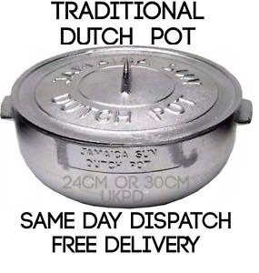 Jamaican Sun Caribbean Dutch Pot Casserole Oven Heavy Duty Dutchie Cast Silver