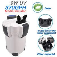 3 stage 100 Gallon Aquarium Fish Tank Canister Filter + 9W UV Sterilizer 370 GPH
