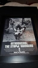 The Staple Singers Love Is Plentiful Rare Original Promo Poster Ad Framed!