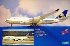 Herpa Wings 1:500 Boeing 747-400 United n118ua 747 531306 modellairport500