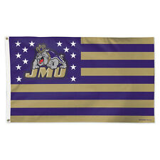 James Madison University / Stars and Stripes NCAA Flag - Deluxe 3' X 5'