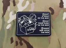 Dick In Box Instructions 3D PVC Morale Patch GITD Glow In The Dark Lonely Island