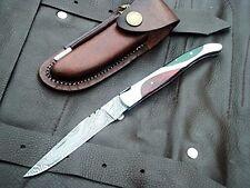 DKC-770 JUBILEE Damascus Steel Folding Laguiole Pocket Knife 3.4 oz 8.5  long 3.