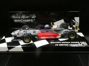 Minichamps 1:43 Takuma Sato Dallara F301 F3 British Champion 2001 400010306