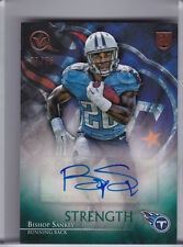 2014 TOPPS VALOR #VA-BS BISHOP SANKEY AUTOGRAPH ROOKIE RC TITANS 37/75 A284