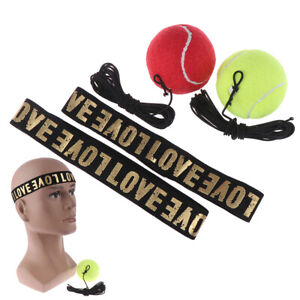 MMA Boxing Fight Ball With Head Band For Reflex Speed Training Punching Exer^BI