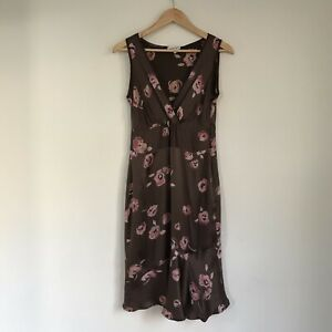 Gerard Darel Womens Dress, Size 38 / AU 10, Silk Floral Tiered