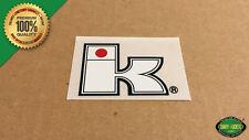 """Kuwahara """"K"""" EXHIBITIONIST BMX Bottom Bracket or Head Tube Decal Sticker - White"""