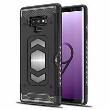 For Samsung Galaxy Note 9 Case Shockproof Full Body Armor Card Holder Magnetic