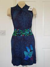 DESIGUAL  BNWT  Charo Jersey Dress - Navy Multi - Size S; UK 10 approx