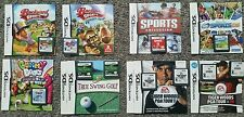 Nintendo DSi Sports Games Bundle - 8 Games in Total + Instruction Manuals! :)