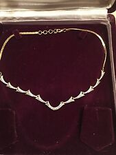American Diamond Gold Plated Necklace