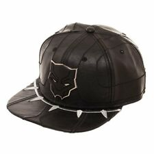 Cosplay!!! Faux Leather Marvel Black Panther Movie Fan Snapback Cap [Adjustable]