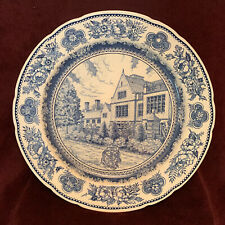 Wedgwood Yale 1949 Plate 'Jonathan Edwards College' Blue & White